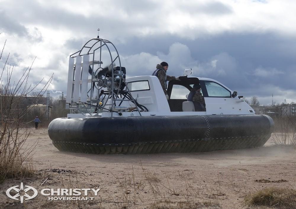 Успешная проверка амфибийных возможностей судна на воздушной подушке проекта Christy-460
