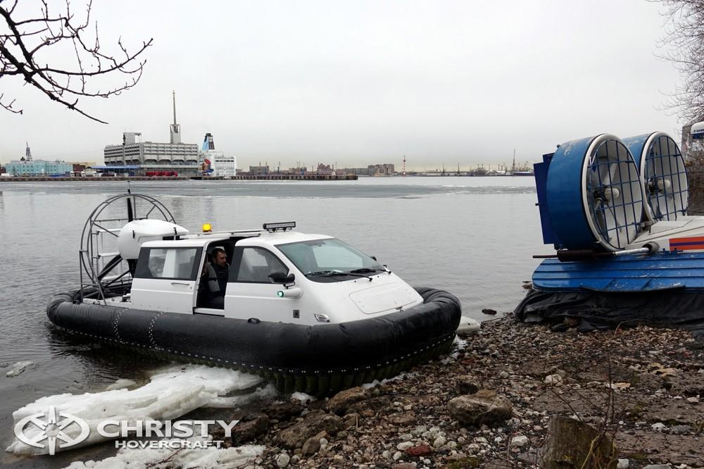 Катера на воздушной подушке успешно используются МЧС для спасения дрейфующих на льдинах рыбаков | фото №35