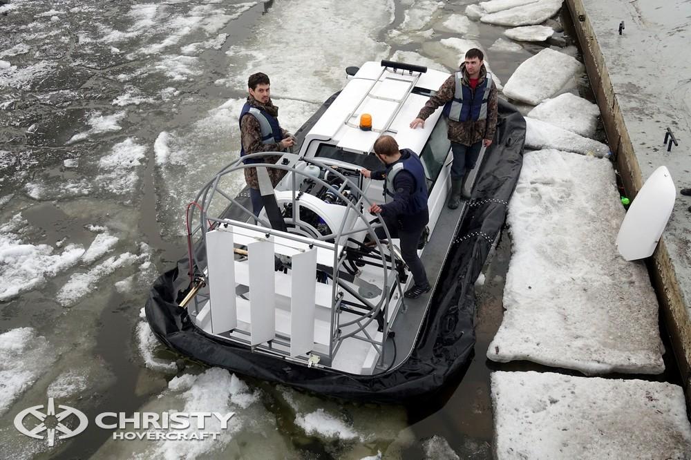Тест-драйв судна на воздушной подушке Christy-5143 | фото №37