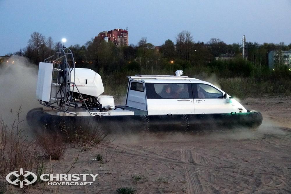 Катер на воздушной подушке Christy-7163 - Ваши друзья будут в восторге от водной прогулки на таком катере-амфибии | фото №13