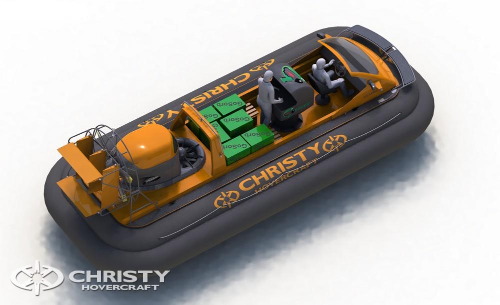 Суда на воздушной подушке Christy-9205 Cargo эффективное решение для ликвидации разливов нефти | фото №3