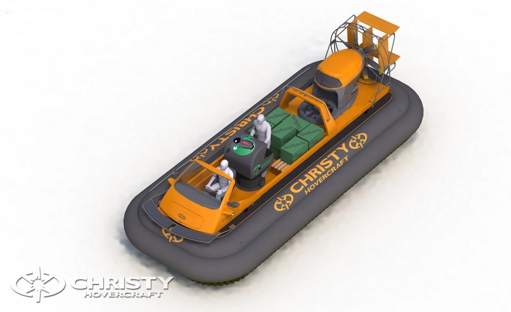 Катер на воздушной подушке Christy-9205 Cargo позволяет решать задачи по нефтеочистке любой сложности. | фото №4