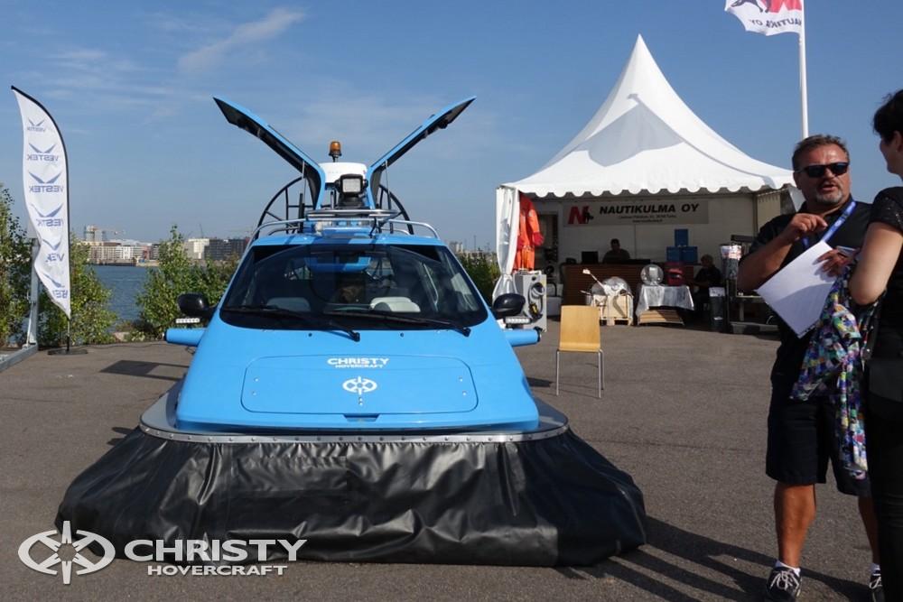 Судно на воздушной подушке Christy-5148 FC вызвало огромный интерес у посетителей выставки. | фото №18