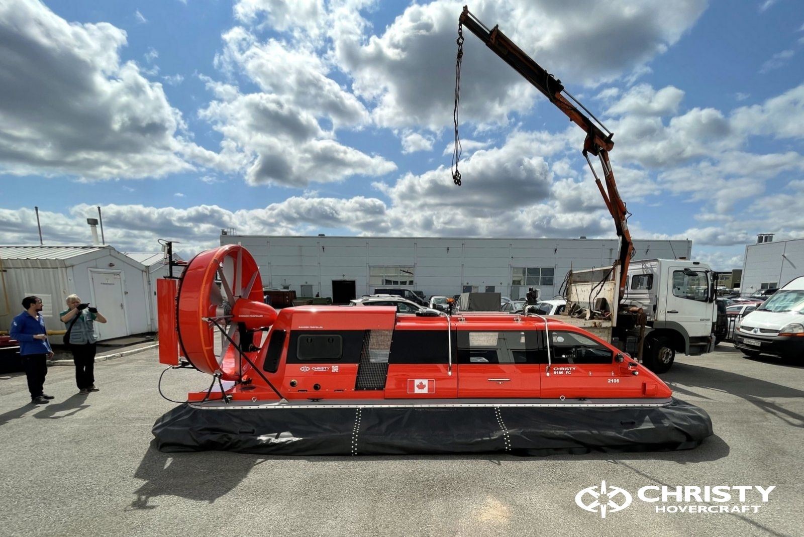 Тест-драйв катера-амфибии Christy 8186 FC Duct для правительства Канады   фото №5