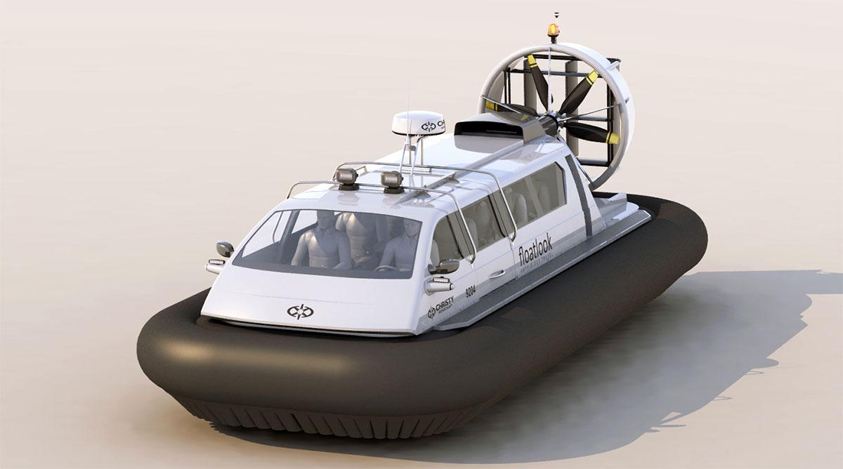 Модель судна амфибии на воздушной подушке Christy 9204 FCW. Белый цвет | фото №7
