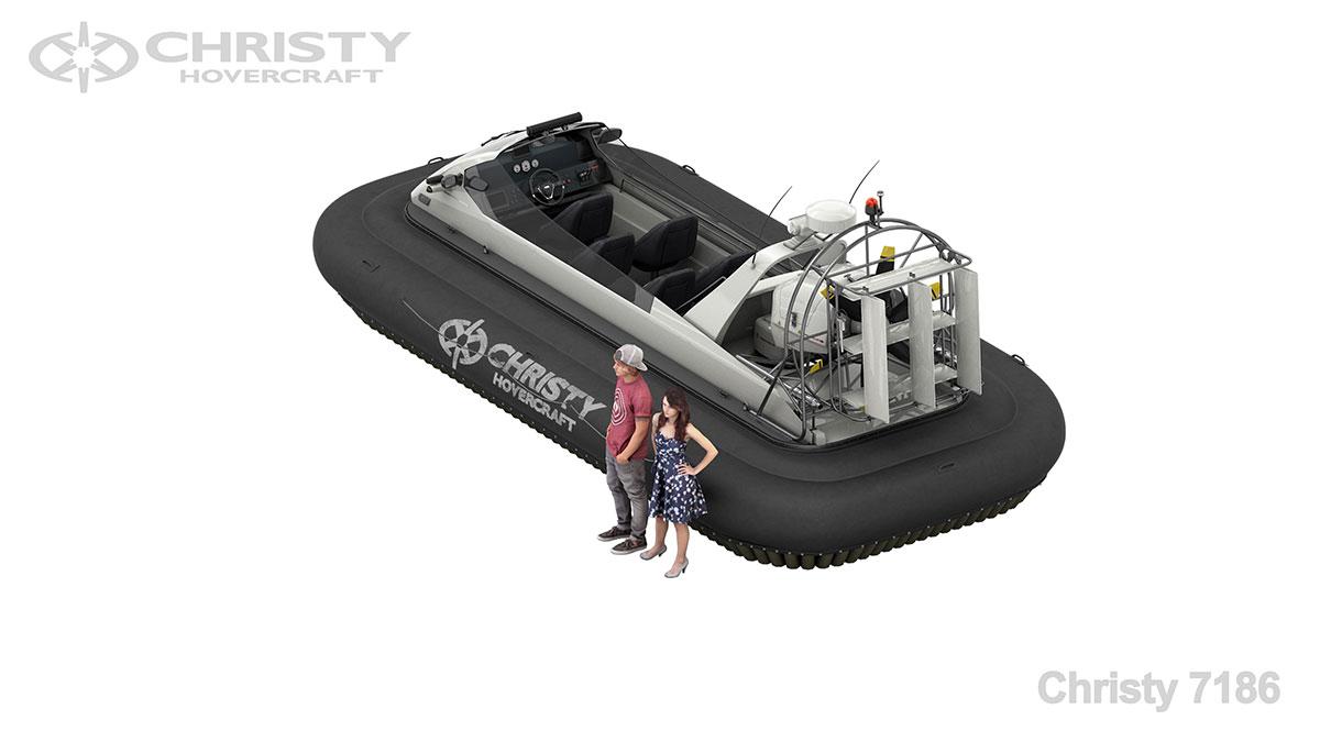 Модель ховеркрафта Christy 7186 OCW Sport