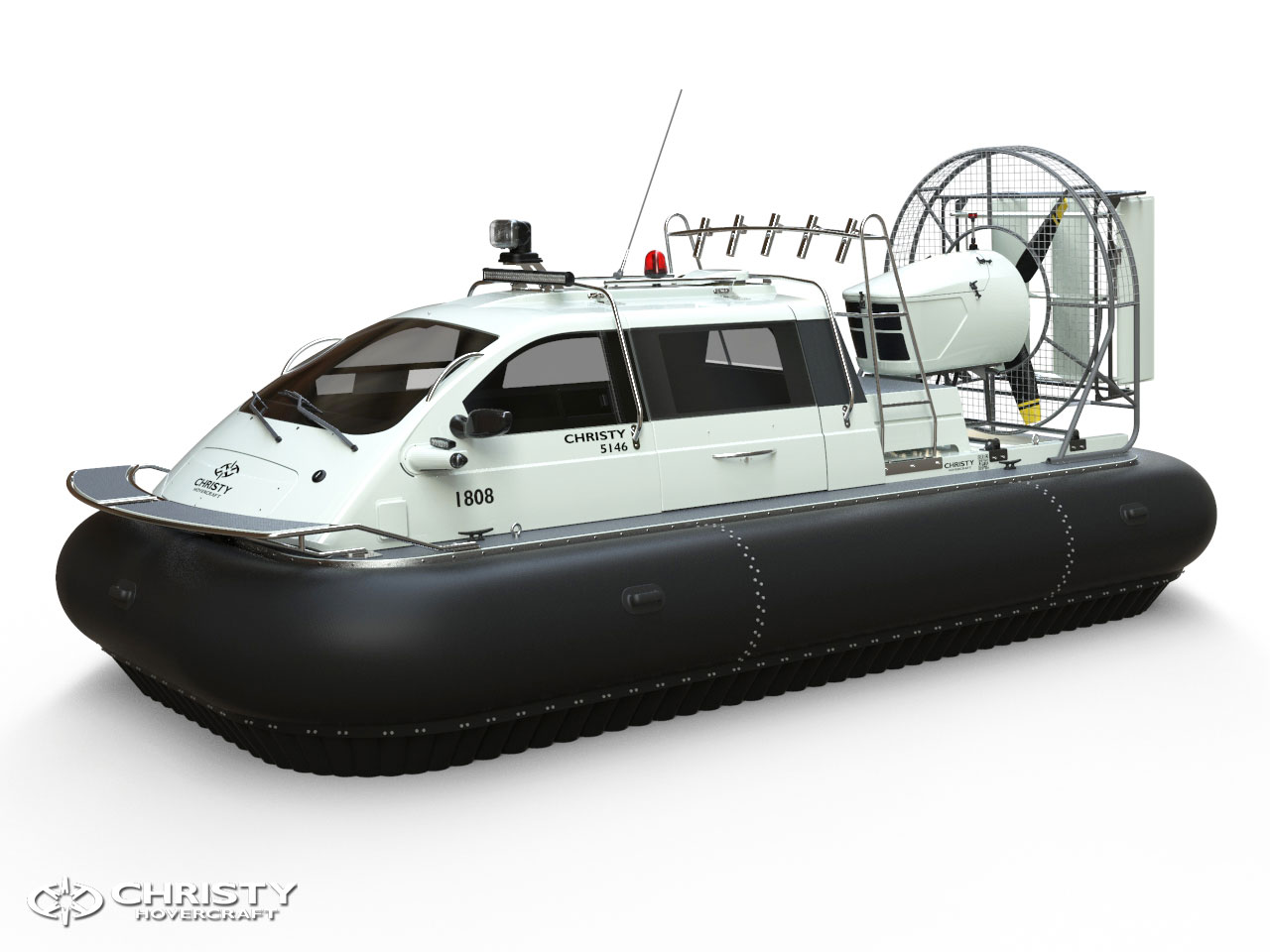Макет катера на воздушной подушке Christy 5146 FC Trolling Edition Вид сбоку | фото №2