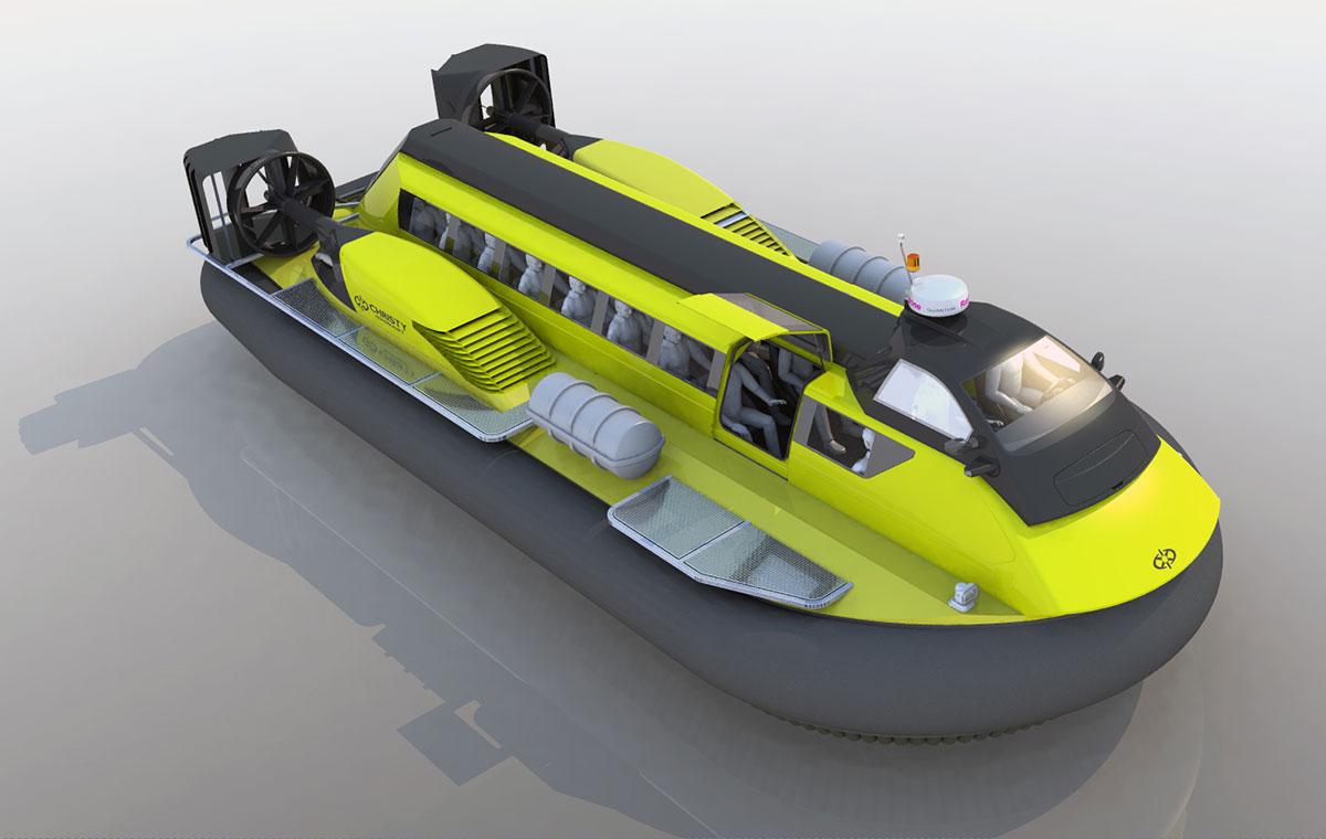 Модель судна на воздушной подушке Christy 25320 | фото №4