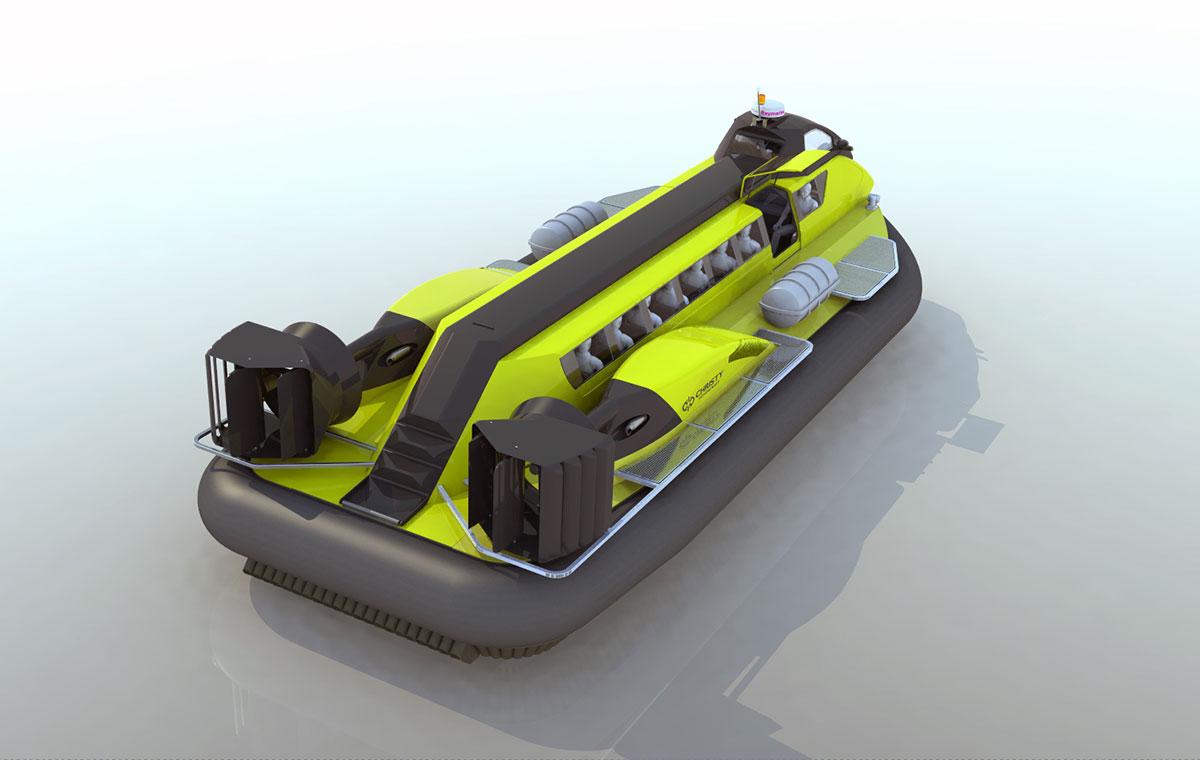 Модель катера амфибии Christy 25320 вид сзади | фото №7