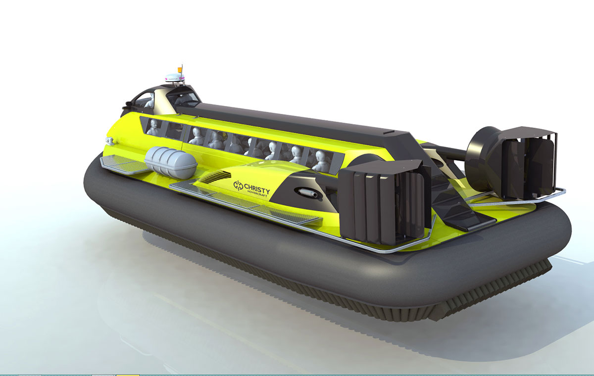 Модель ложки на воздушной подушке Christy 25320 вид сбоку сзади | фото №6