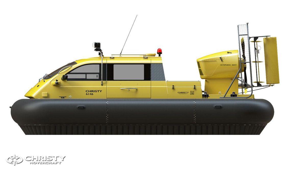 Катер-амфибия на воздушной подушке Christy 6146 FC DeLuxe. Модель судна. Вид сбоку | фото №13