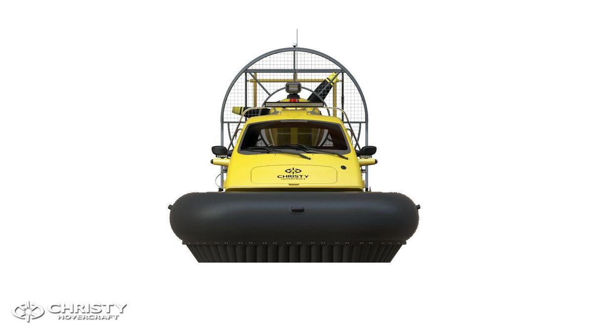 Катер-амфибия на воздушной подушке Christy 6146 FC DeLuxe. Модель судна. Вид спереди | фото №15