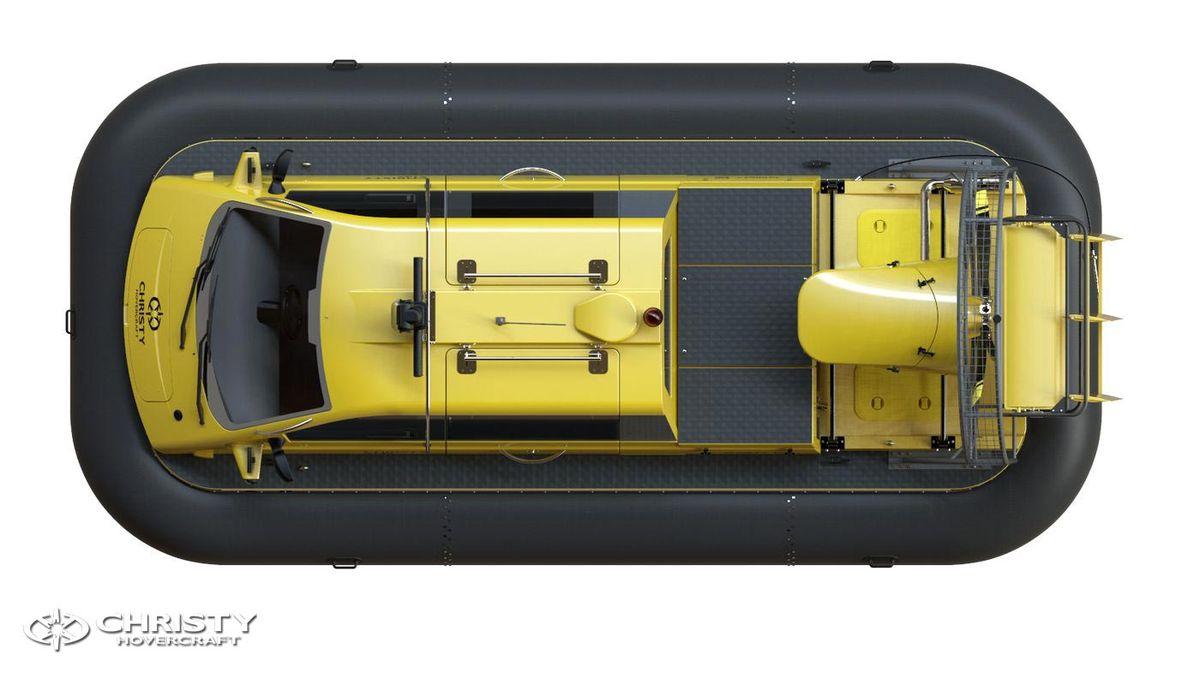 Катер-амфибия на воздушной подушке Christy 6146 FC DeLuxe. Модель судна. Вид сверху | фото №14