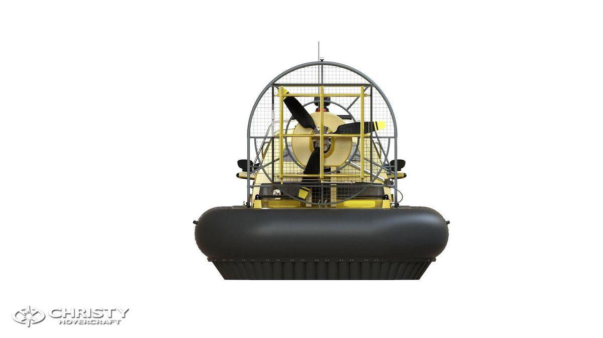 Катер-амфибия на воздушной подушке Christy 6146 FC DeLuxe. Модель судна. Вид сзади | фото №16