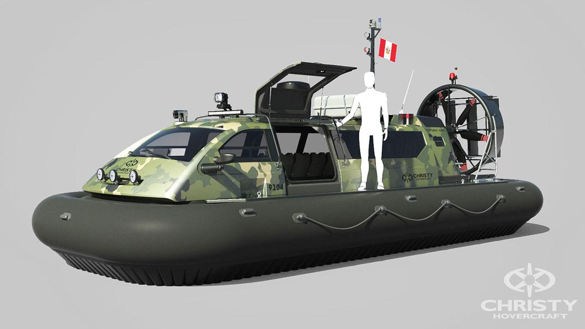 Макет судна на воздушной подушке Christy 9204 FC (Peru Coast Guard) вид сбоку | фото №3