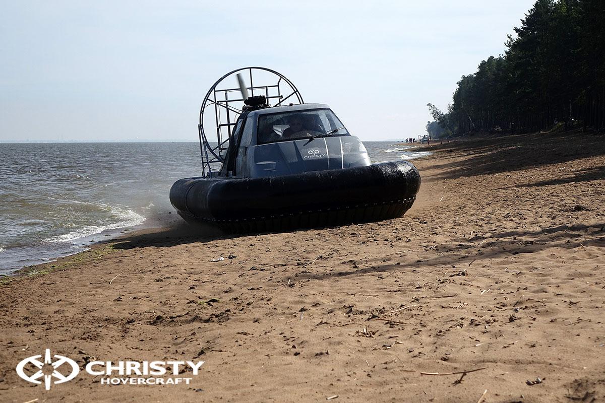 Судно на воздушной подушке проекта Сhristy-553 с тентом | фото №1