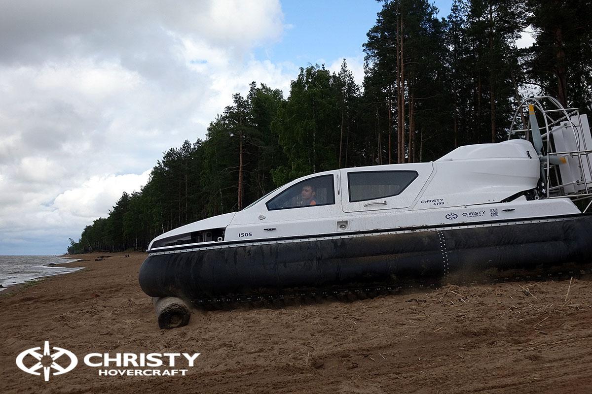 Тест-драйв катера-амфибии на воздушной подушке Christy 6199 | фото №27