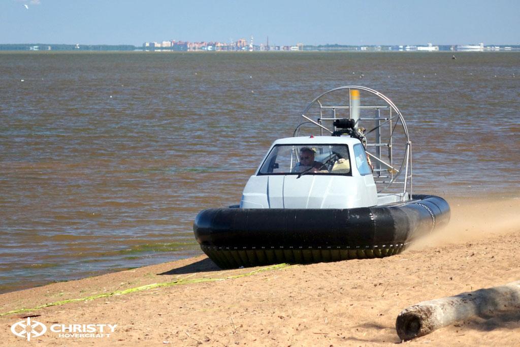 Тест-драйв лодки на воздушной подушке Christy 555 | фото №17