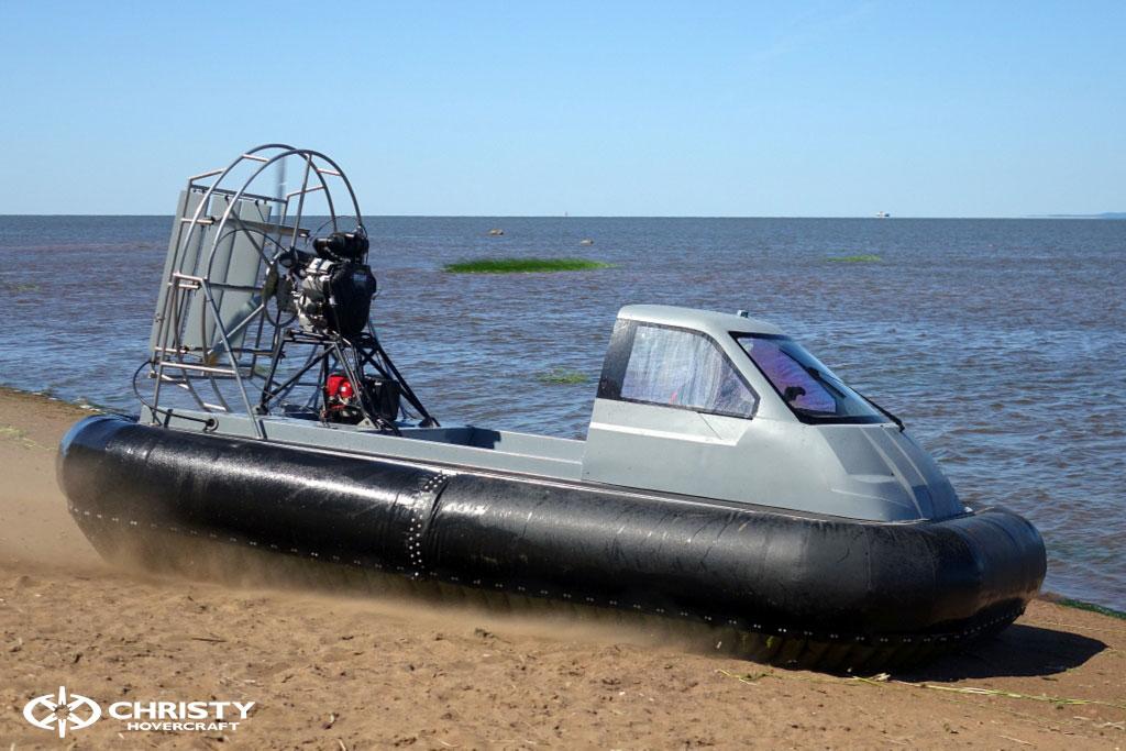 Тест-драйв лодки-амфибии на воздушной подушке Christy 555 | фото №27