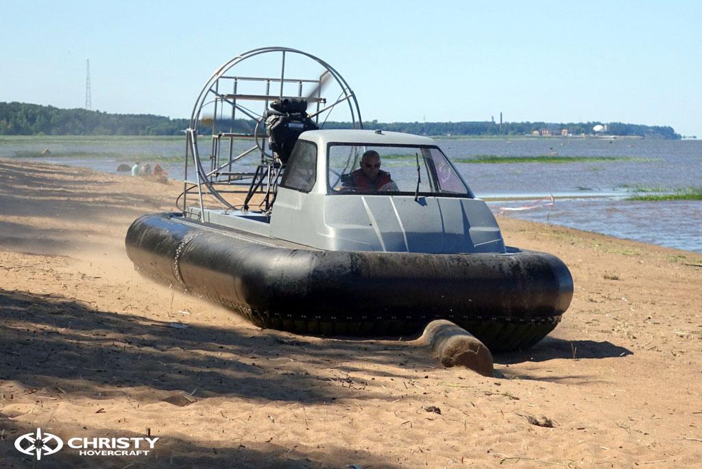 Тест-драйв вездехода-амфибии на воздушной подушке Christy 555 | фото №28