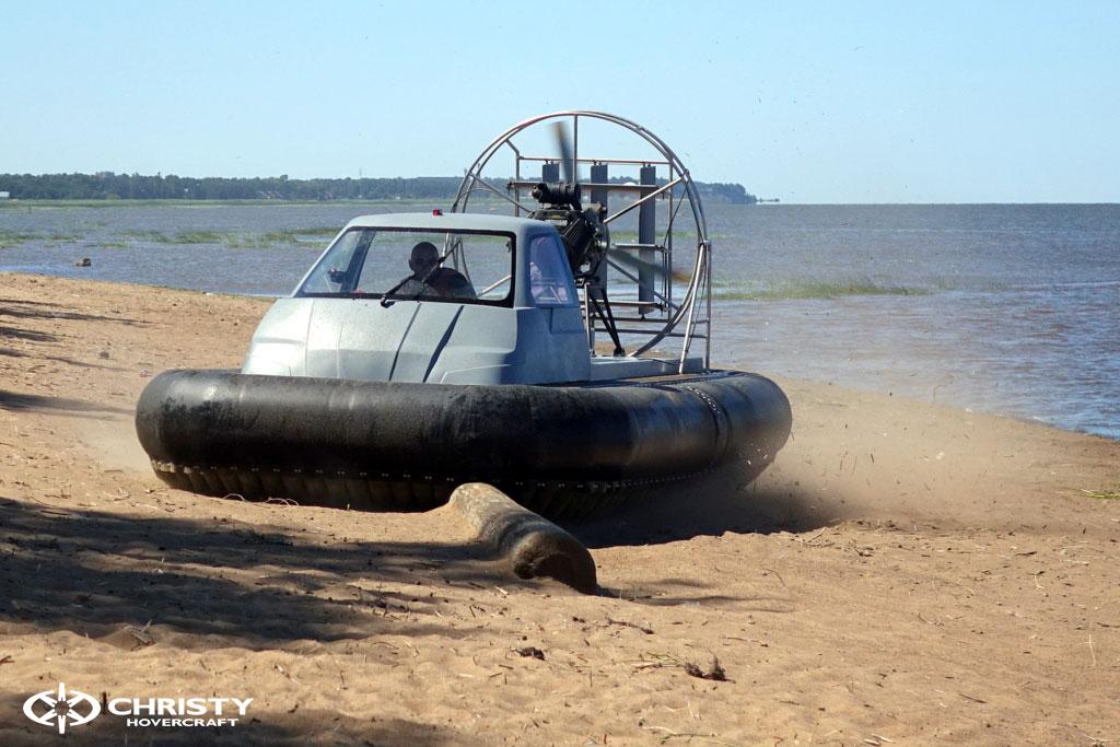 Тест-драйв судна-амфибии на воздушной подушке Christy 555 | фото №29