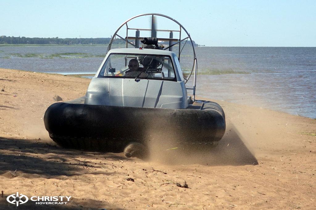 Тест-драйв катера-амфибии на воздушной подушке Christy 555 | фото №30