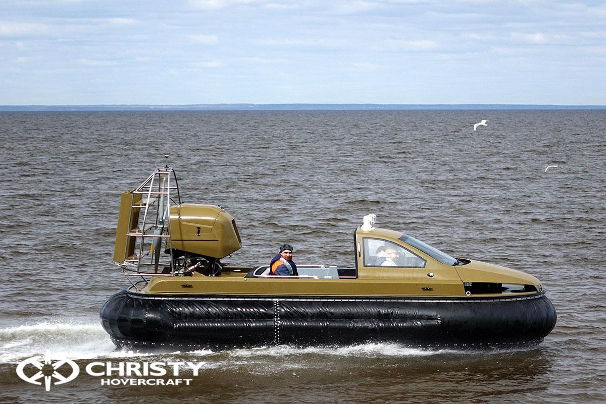 Технические испытания катера-амфибии на воздушной подушке Christy 6183 Кабриолет | фото №6