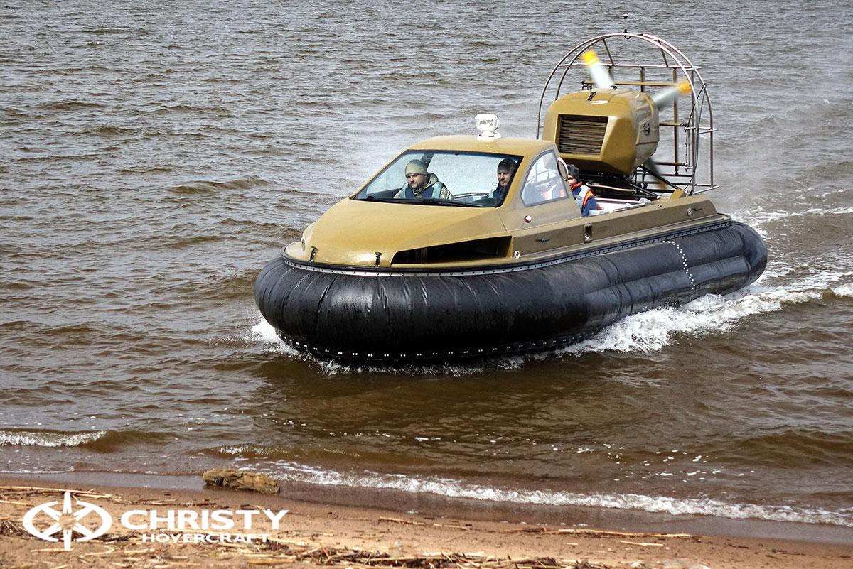 Технические испытания катера на воздушной подушке Christy 6183 Кабриолет | фото №7