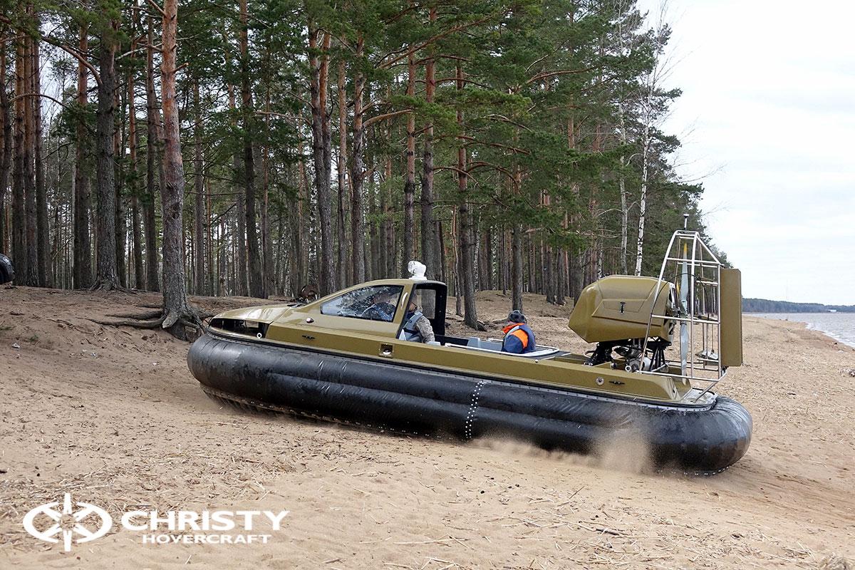 Технические испытания лодки на воздушной подушке Christy 6183 Кабриолет | фото №8
