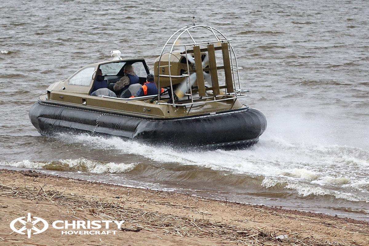 Технические испытания катера на воздушной подушке Christy 6183 Кабриолет