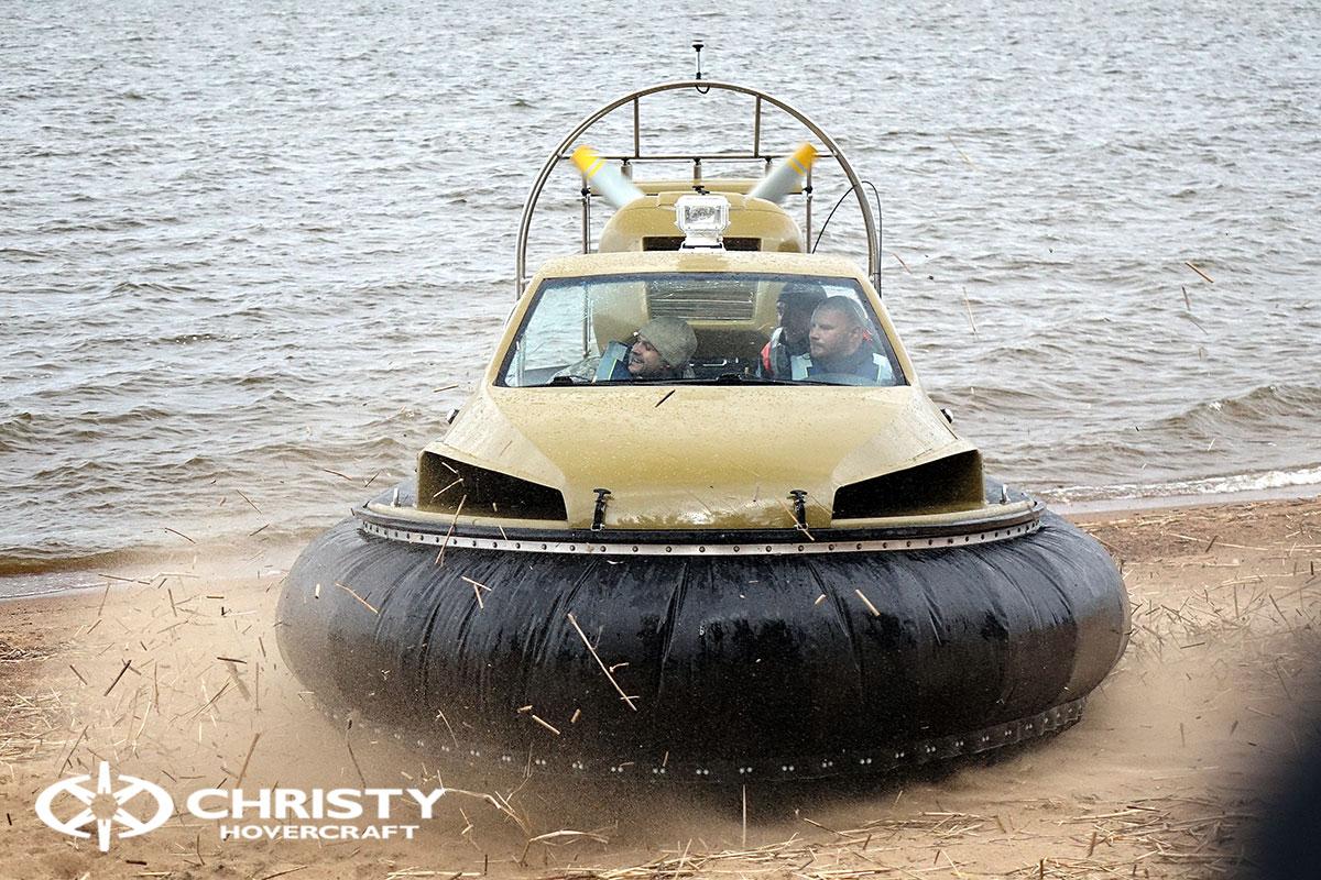 Технические испытания амфибии на воздушной подушке Christy 6183 Кабриолет | фото №10