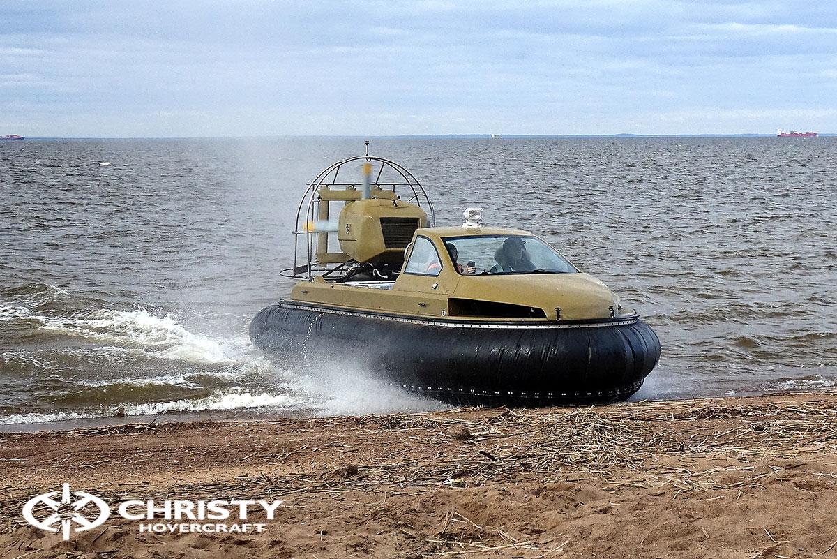 Технические испытания катера-амфибии на воздушной подушке Christy 6183 Кабриолет | фото №11