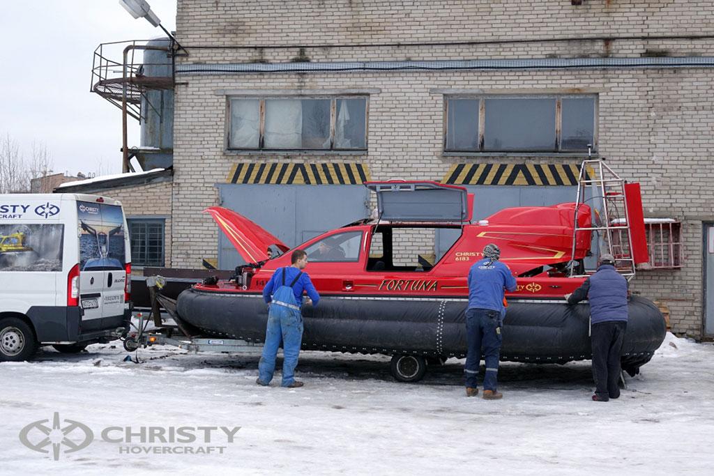 Christy 6199 MK2 тест-драйв и отгрузка катера клиенту