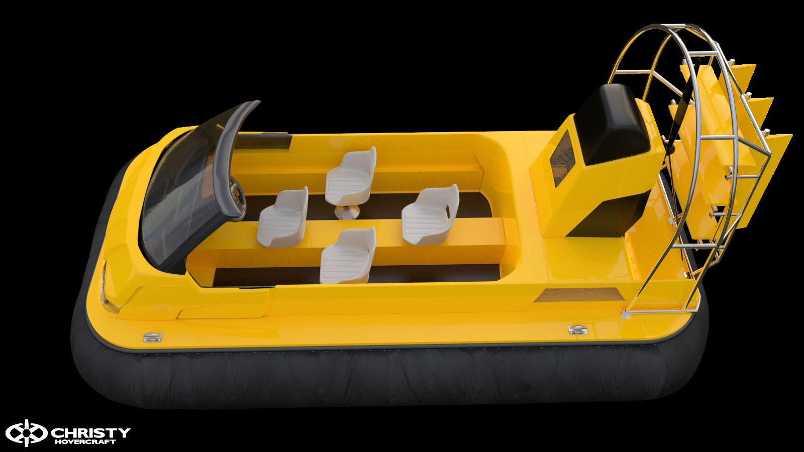 Катер-амфибия Christy 453 - с полностью открытой кабиной