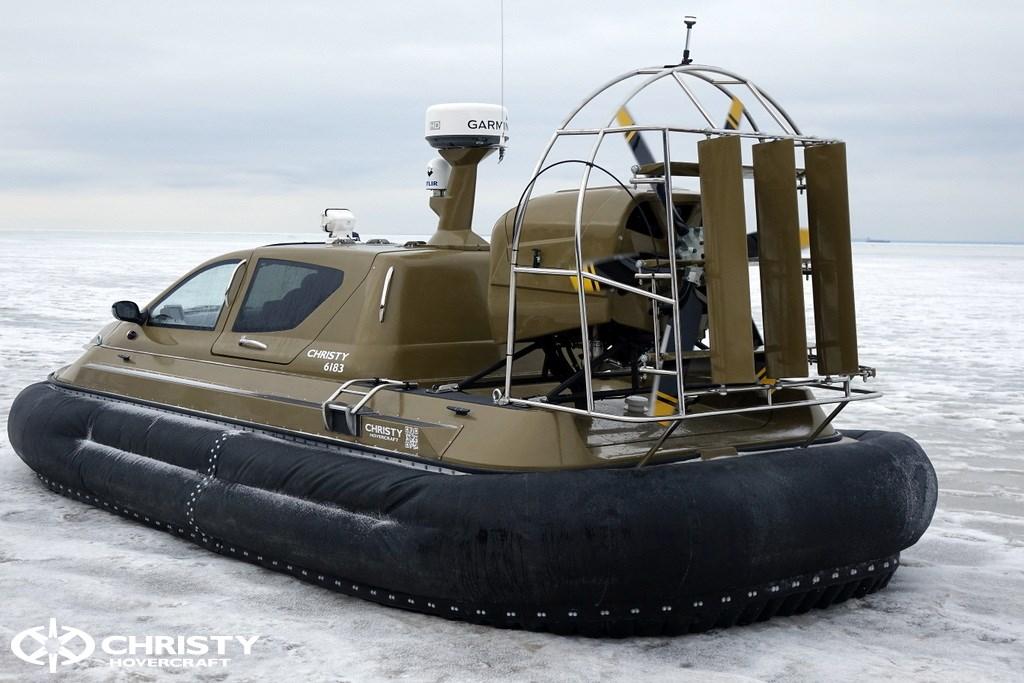 Испытания модернизированного катера на воздушной подушке Christy 6183 Military