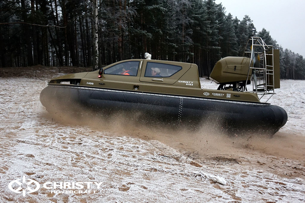 Обучение управлению судном Christy 6183 на льду | фото №12