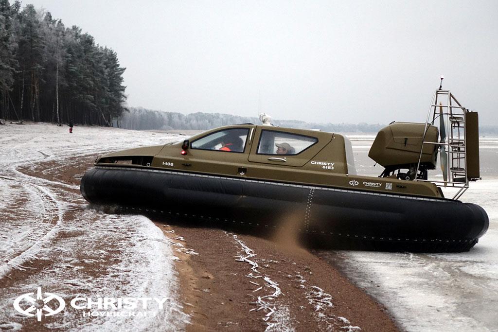 Обучение управлению судном Christy 6183 на льду | фото №22