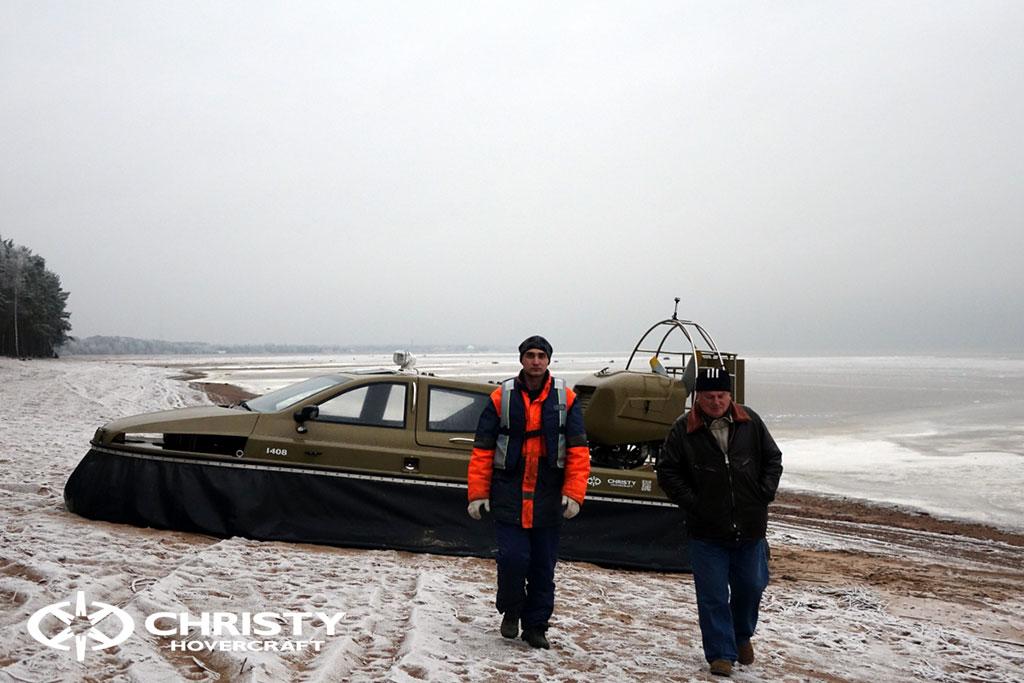 Обучение управлению судном Christy 6183 на льду | фото №23