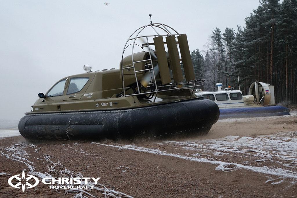 Обучение управлению судном Christy 6183 на льду | фото №30