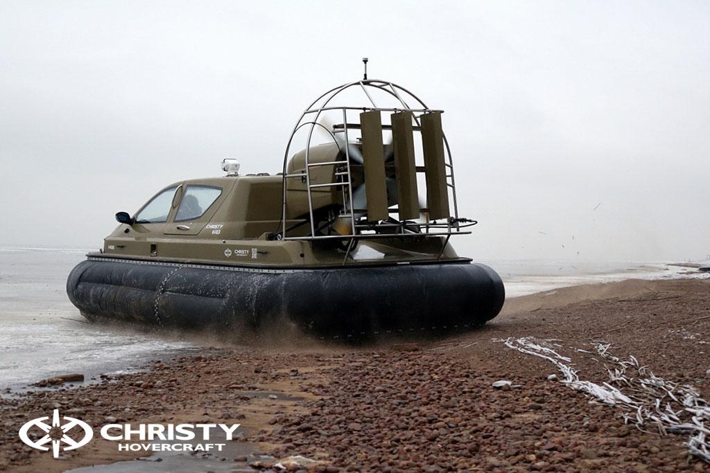 Обучение управлению судном Christy 6183 на льду | фото №31