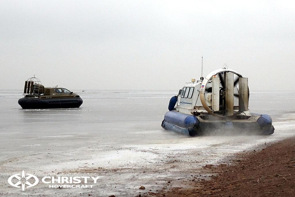 Обучение управлению судном Christy 6183 на льду | фото №32