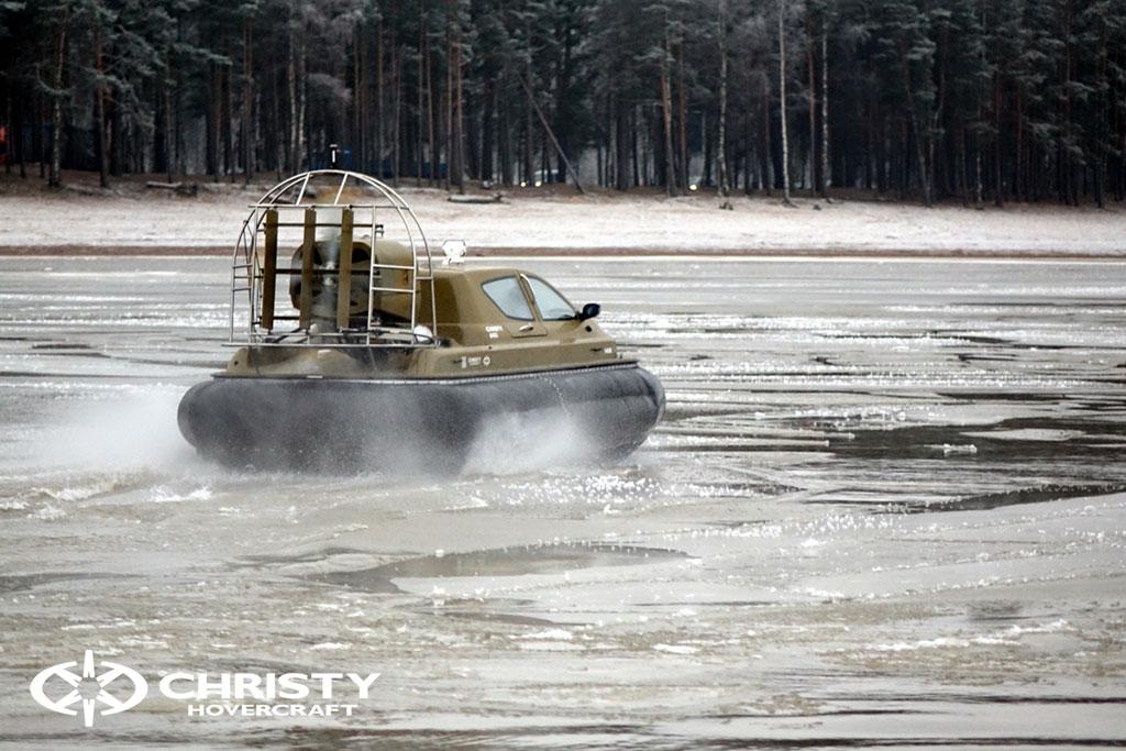 Обучение управлению судном Christy 6183 на льду | фото №37