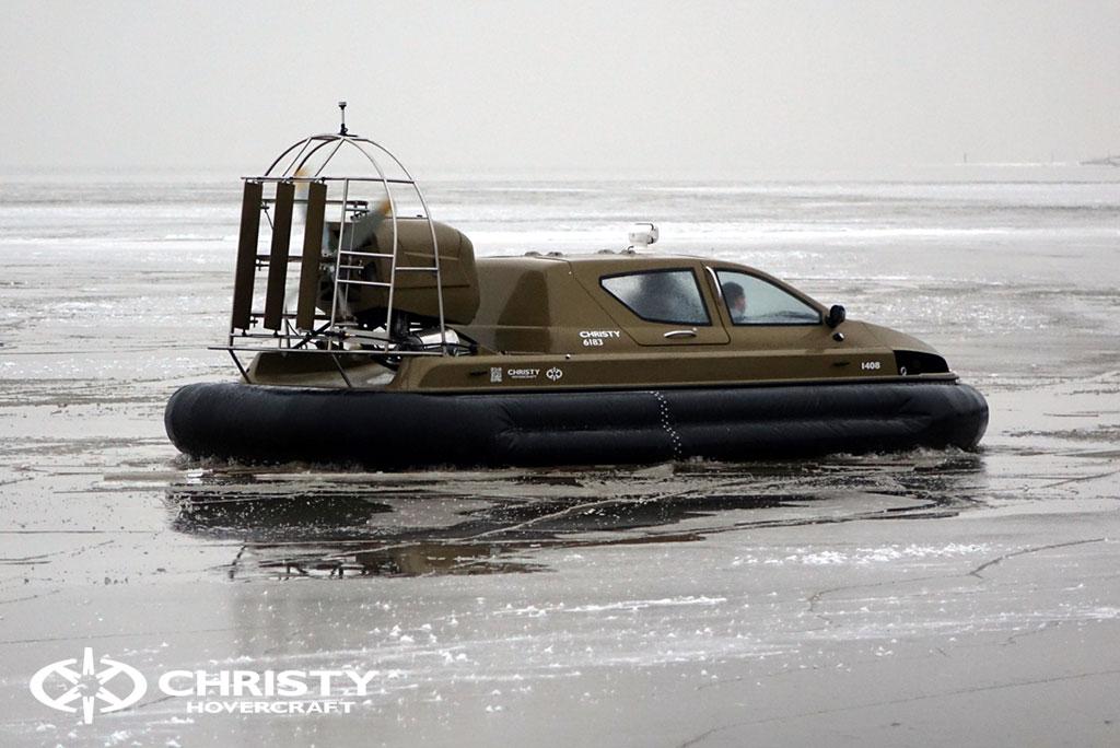 Обучение управлению судном Christy 6183 на льду | фото №39