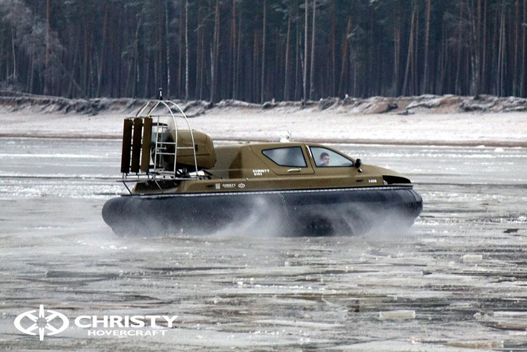 Обучение управлению судном Christy 6183 на льду | фото №51