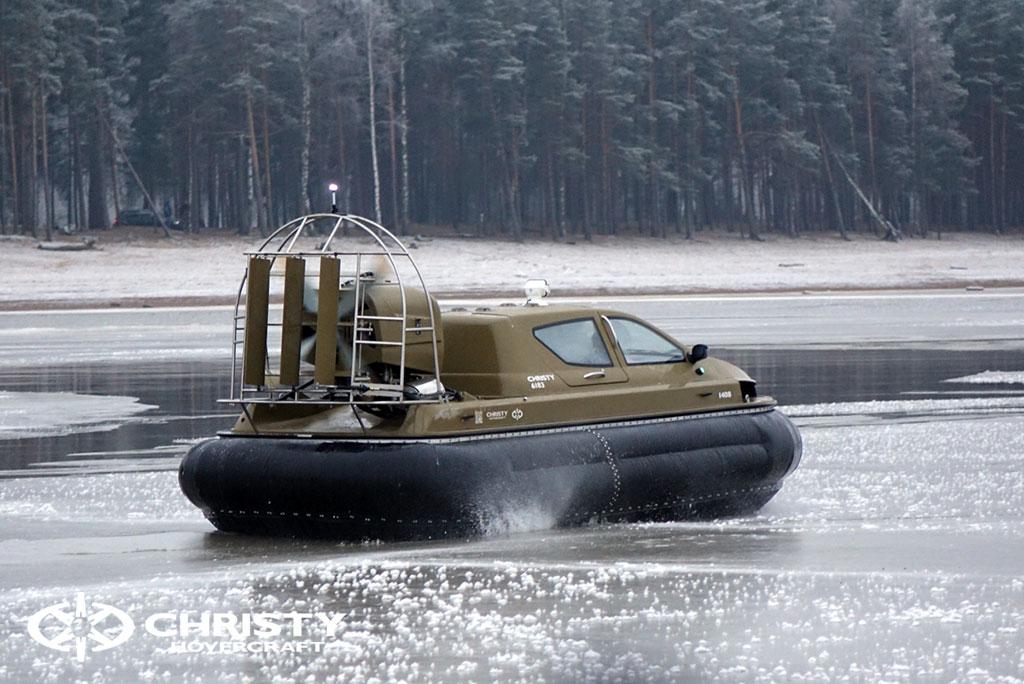 Обучение управлению судном Christy 6183 на льду | фото №55