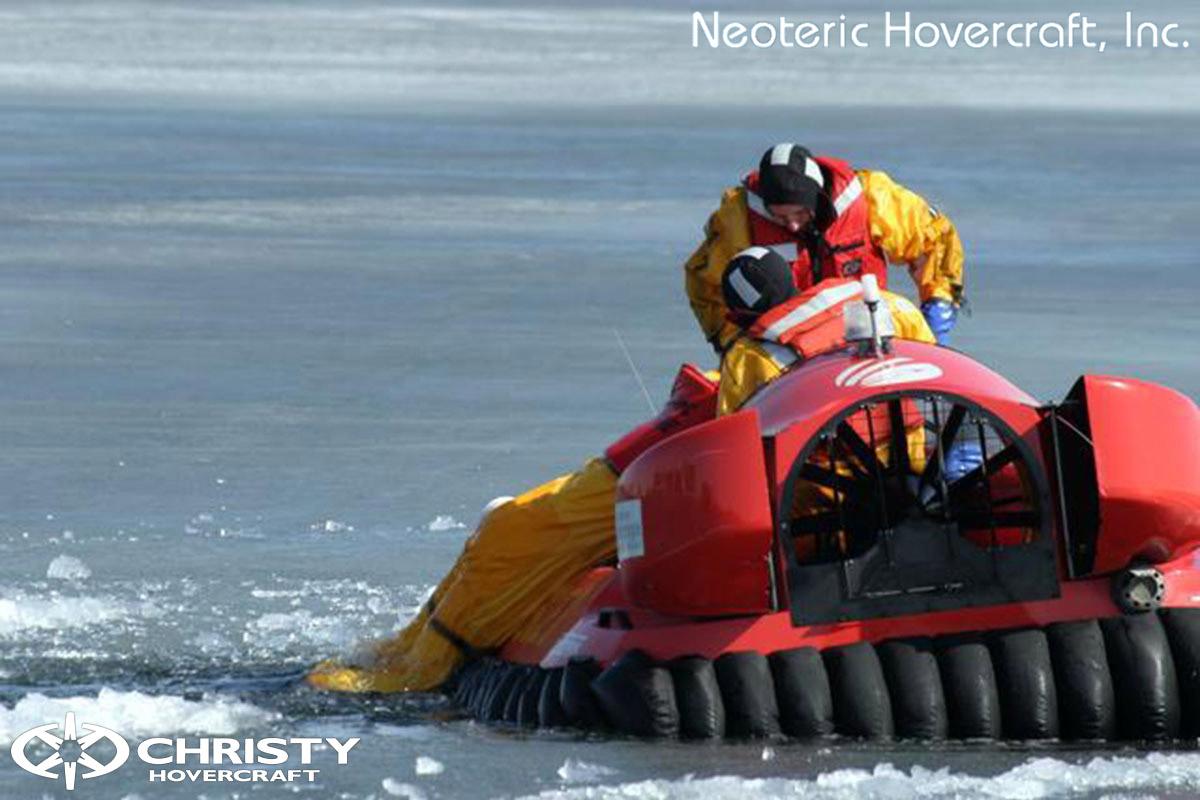 Спасательный катер на воздушной подушке Hovertrek 455 от Neoteric Hovercraft Inc | фото №17