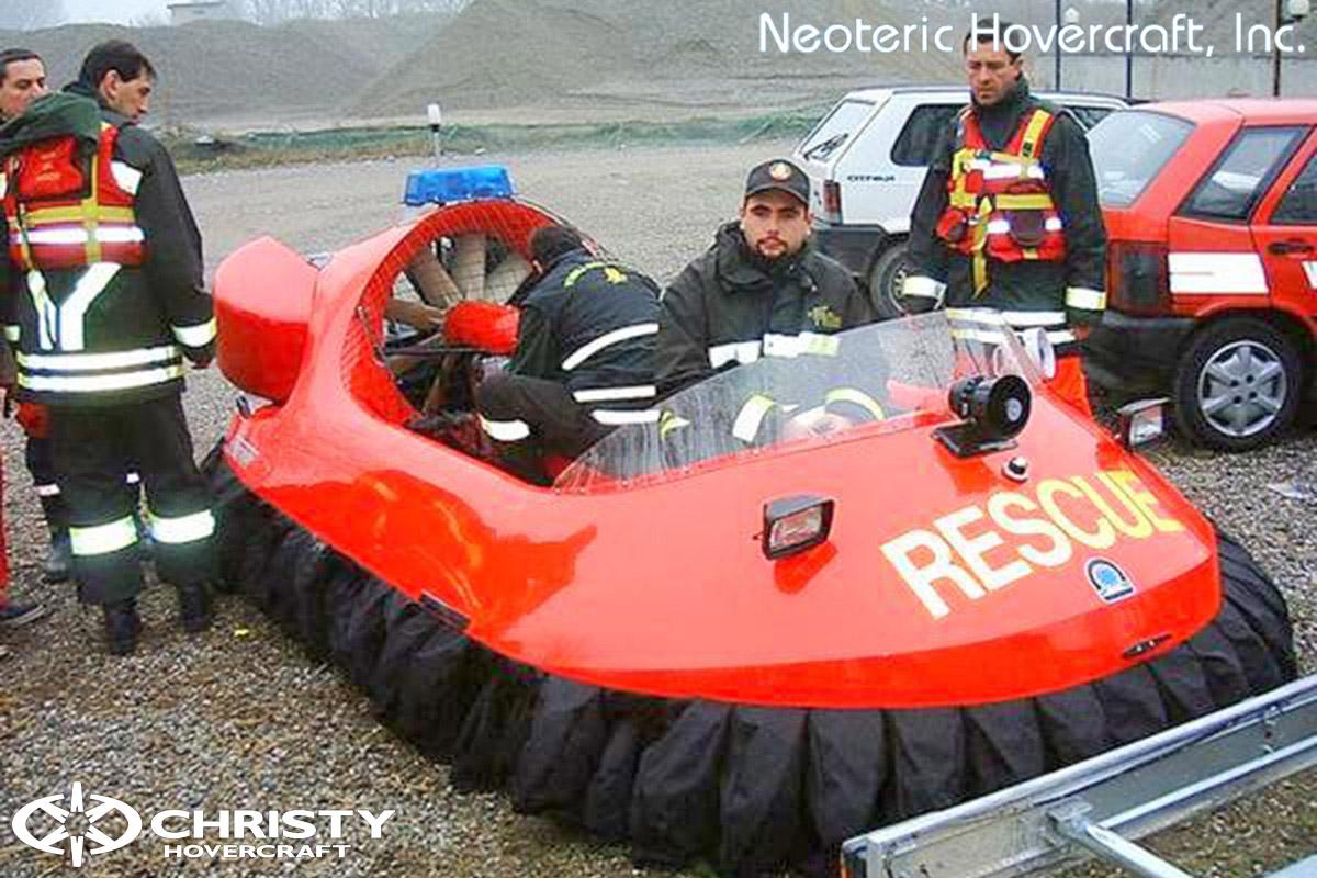 Спасательный катер на воздушной подушке Hovertrek 455 от Neoteric Hovercraft Inc | фото №37