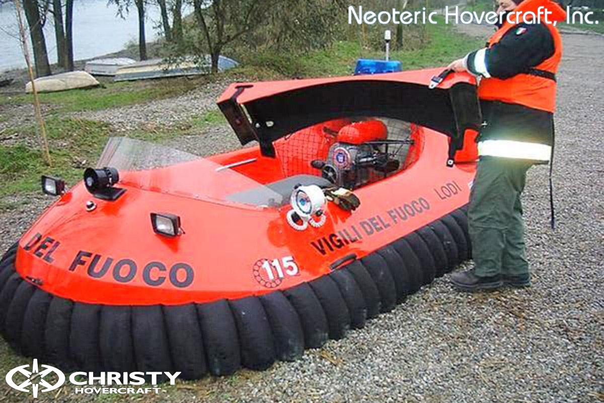 Спасательный катер на воздушной подушке Hovertrek 455 от Neoteric Hovercraft Inc | фото №42
