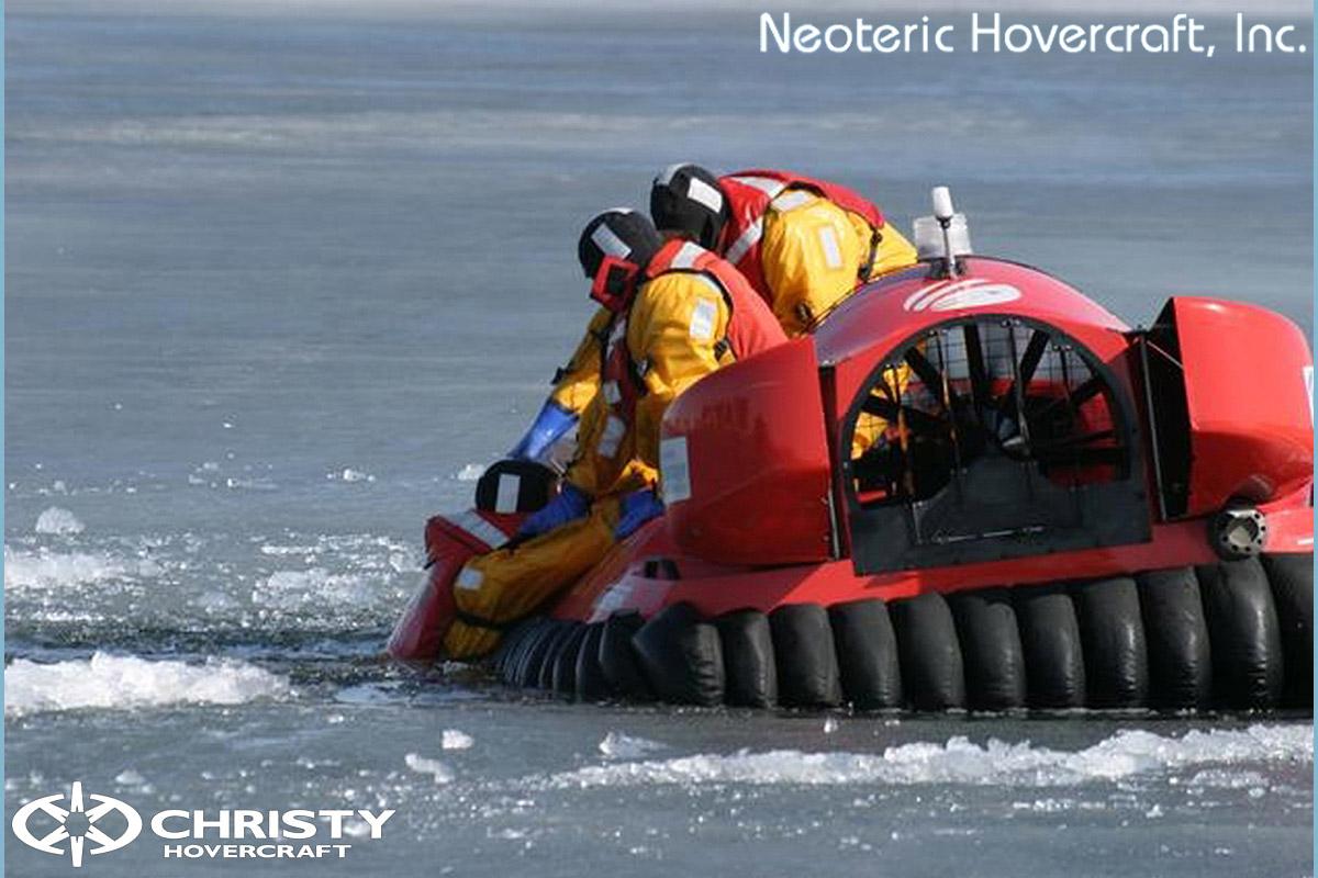 Спасательный катер на воздушной подушке Hovertrek 455 от Neoteric Hovercraft Inc | фото №3