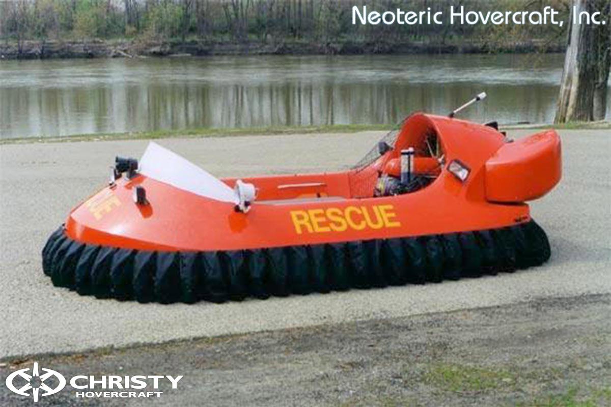 Спасательный катер на воздушной подушке Hovertrek 455 от Neoteric Hovercraft Inc | фото №11
